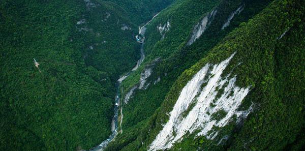 重庆市石柱县七曜山 人迹罕至的美丽深山