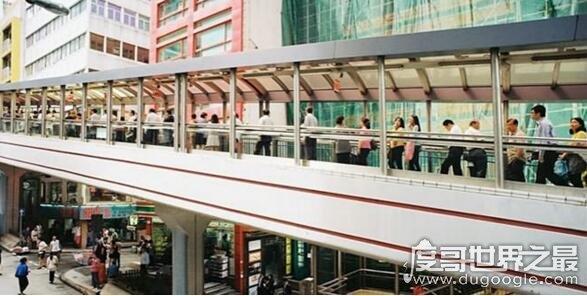 世界上最长的露天自动扶梯,香港中环至半山自动扶梯长800米