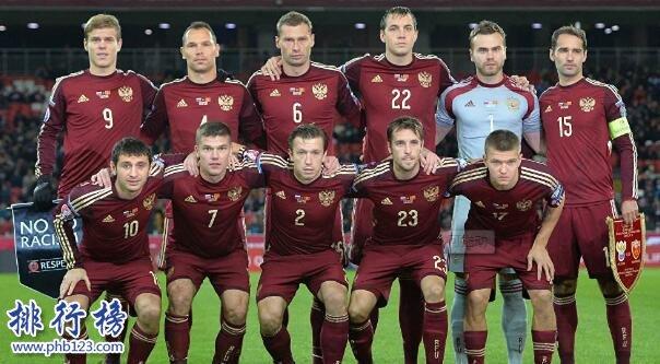 俄罗斯足球世界排名:第65,比国足还低8位(截止2017年10月)