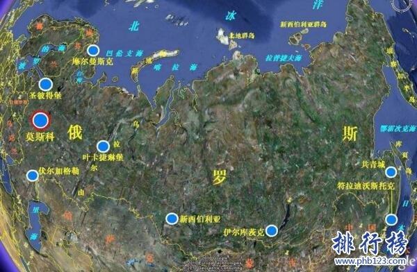 世界上面积最大的国家:俄罗斯,国土面积约等于两个中国