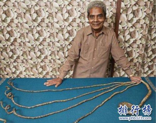 世界上最长的指甲,指甲全长9.1米(64年从未剪过)
