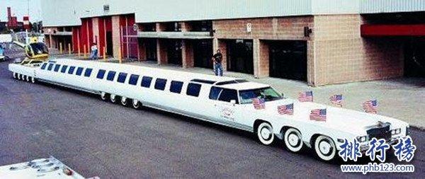 世界上最长的汽车图片,汽车长达30.5米(是辆高级轿车)