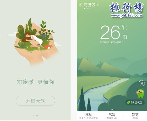 天气app排行榜